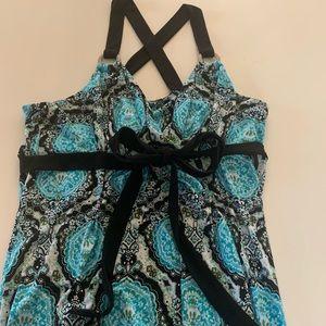 INC pattered maxi dress sz L